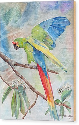 Perfect Landing Wood Print by Arline Wagner