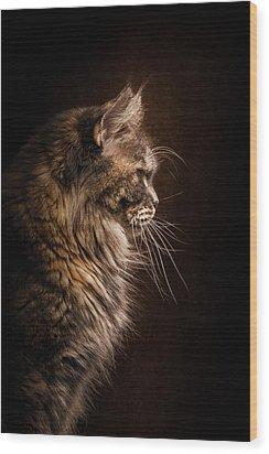 Perfect Profile Wood Print by Robert Sijka