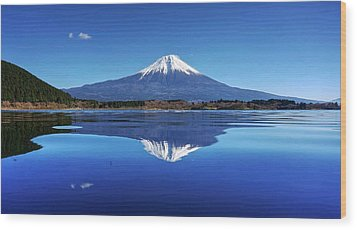 Wood Print featuring the photograph Perfect Shape, Perfect Blue by Peter Thoeny