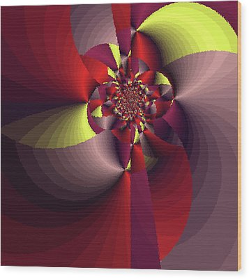 Perfectly Wrapped Wood Print by Bonnie Bruno