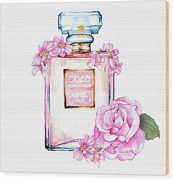 Perfume Florals Wood Print by Heidi Kriel