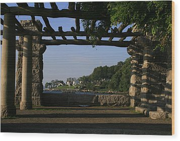 Pergola Wood Print by Christopher Kirby