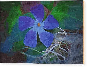 Wood Print featuring the digital art Periwinkle Blue by Donna Bentley