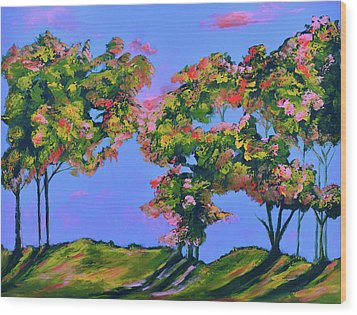 Periwinkle Twilight Wood Print by Donna Blackhall