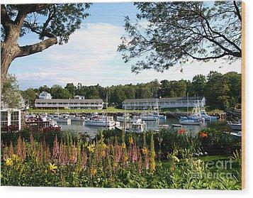 Perkins Cove Wood Print