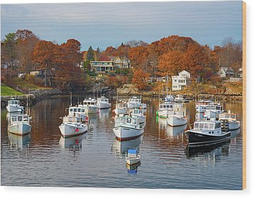 Wood Print featuring the photograph Perkins Cove by Darren White