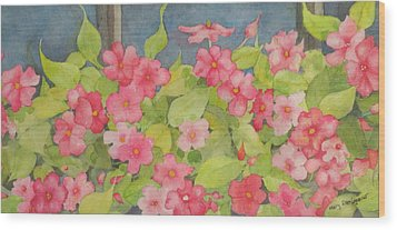 Wood Print featuring the painting Perky by Mary Ellen Mueller Legault