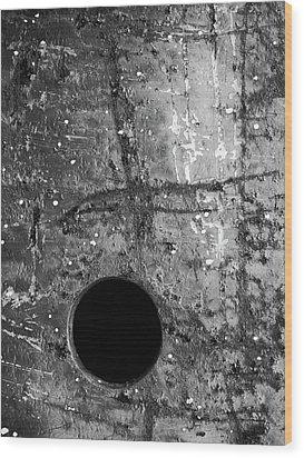 Perpendicular Wood Print by Tom Druin