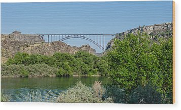 Perrine Bridge At Twin Falls Wood Print