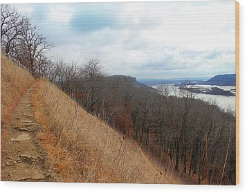 Perrot State Park Mississippi River 5 Wood Print by Brook Burling