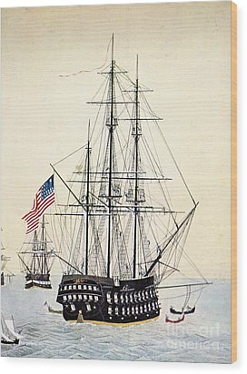 Perrys Expedition To Japan Wood Print by Granger