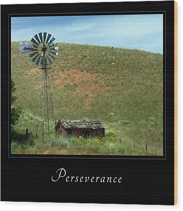 Wood Print featuring the photograph Perserverance 2 by Mary Jo Allen
