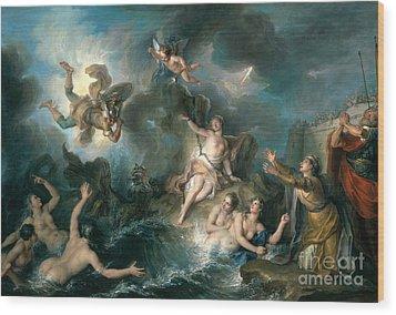 Perseus Rescuing Andromeda Wood Print by Charles Antoine Coypel