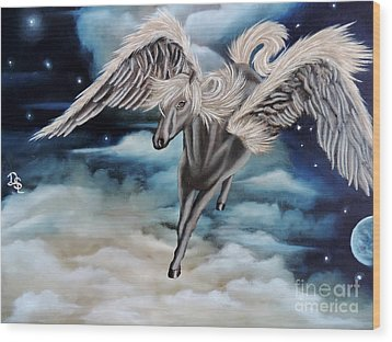 Perseus The Pegasus Wood Print