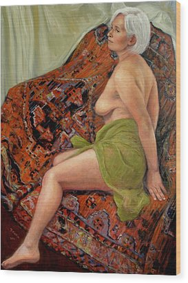 Persian Rug 3 Wood Print by Donelli  DiMaria
