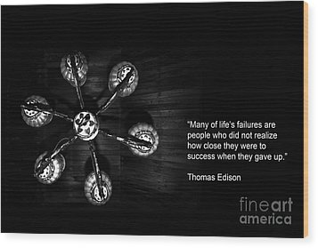Persistence Wood Print by Charuhas Images