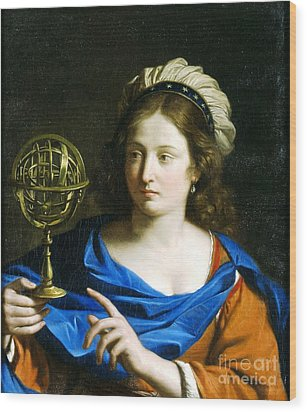 Wood Print featuring the painting Personification Of Astrology by Pg Reproductions