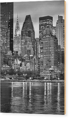 Perspectives V Bw Wood Print by JC Findley