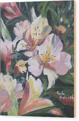 Peruvian Lily Wood Print