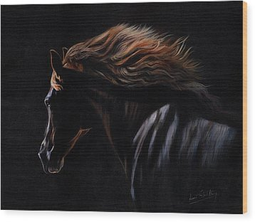 Wood Print featuring the painting Peruvian Paso Horse by David Stribbling