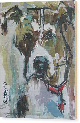 Wood Print featuring the painting Pet Commission Painting by Robert Joyner