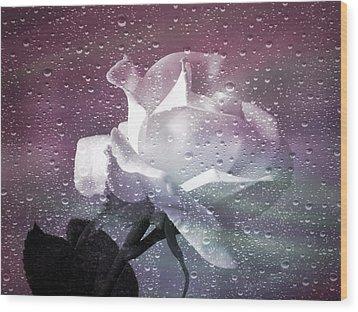 Petals And Drops Wood Print by Julie Palencia