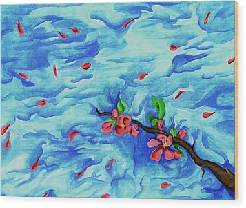 Petals In The Wind I Wood Print by Robert Morin