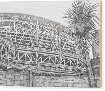 Petco Park Wood Print by Juliana Dube