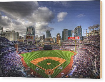 Petco Park Opening Day Wood Print by Shawn Everhart