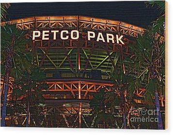 Petco Park Wood Print by RJ Aguilar