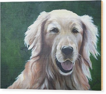 Wood Print featuring the painting Pete by Nancy Jolley