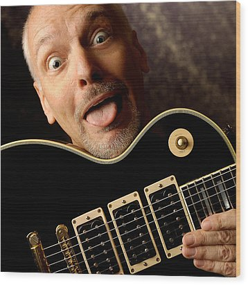 Peter Frampton By Gene Martin Wood Print