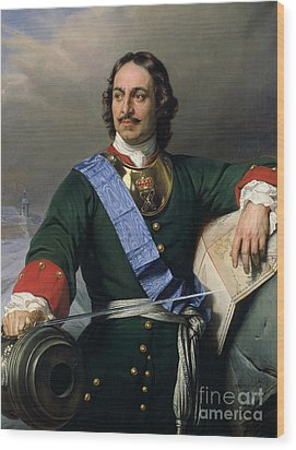 Peter I The Great Wood Print by Delaroche