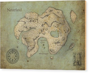 Peter Pan Neverland Wood Print by Craig Wetzel