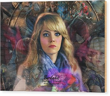 Wood Print featuring the digital art Peter Parker's Haunting Memories Of Gwen Stacy by Barbara Tristan