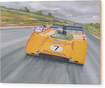 Peter Revson Can Am Wood Print