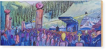 Wood Print featuring the painting Peter Rowen At Copper Mountain by David Sockrider