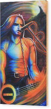 Peter Steele Wood Print by Cobb Family Art