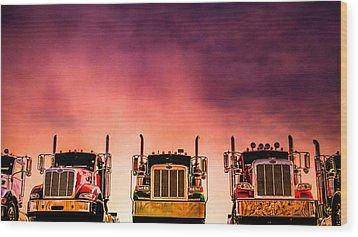 Wood Print featuring the photograph Peterbilt  Landscape by Bob Orsillo