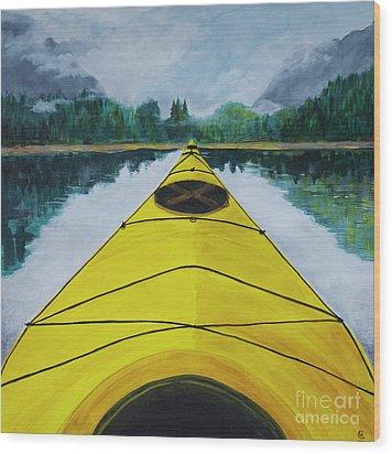 Petersburg Creek Wood Print