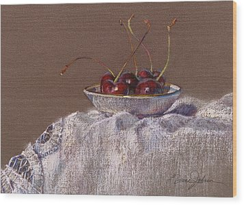Petite Bowl Iv Wood Print by L Diane Johnson