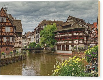 Petite France, Strasbourg Wood Print by Elenarts - Elena Duvernay photo