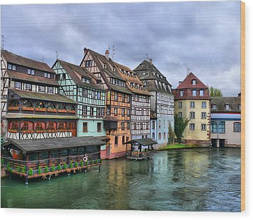 Petite-france, Strasbourg Wood Print by Richard Fairless