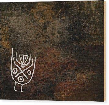 Petroglyph 7 Wood Print