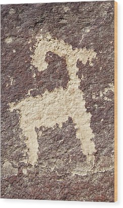 Wood Print featuring the photograph Petroglyph - Fremont Indian by Breck Bartholomew