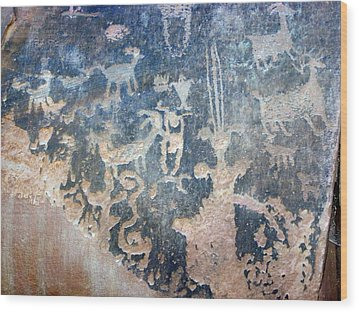 Petroglyph Wood Print