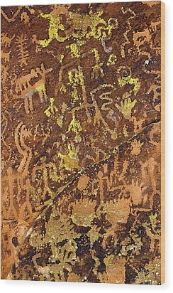 Petroglyph Records Wood Print by Phyllis Denton