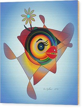 Petunia Parrot 2 Wood Print