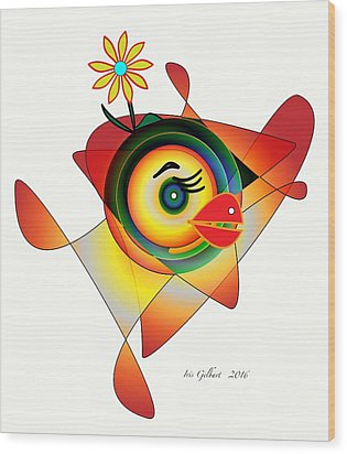 Petunia Parrot Wood Print by Iris Gelbart