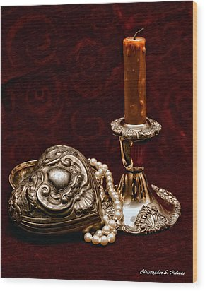 Pewter And Pearls Wood Print by Christopher Holmes